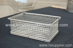 Wire basket made of stainless steel