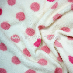 polyester printed berber Fleece or sherpa fleece fabric for garment materials