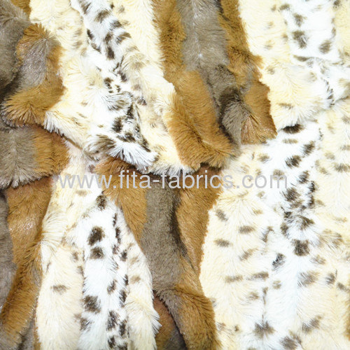 100% polyester or 100%arcylic embossed/printed pv plush fabric/faux fur