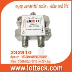 UHF VHF satellite siplexer