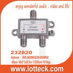232820 combine UHF VHF antenna and satellite signal diplexer