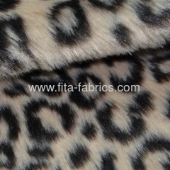 Panther print/faux fur pv plush fabric