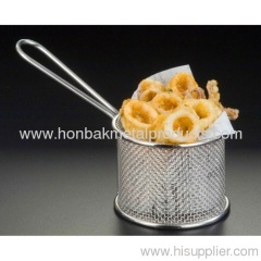 Storage uasge)Kitchen Fry Basket/Wire Mesh Metal products