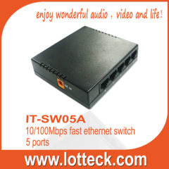 5 ports 10/100Mbps Fast Ethernet Switch