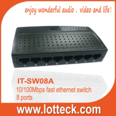 LOTTECK 8-Port Fast Ethernet Switch