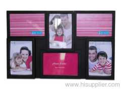 Plastic Injection Photo Frame, 4X6-3&6X4-3 opening,meansures45.5X29X2.7CM
