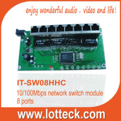 IT-SW08HHC 10/100Mbps Network Switch Module