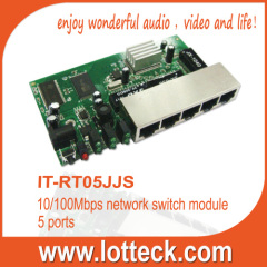 5 port 10/100Mbps broadband router module