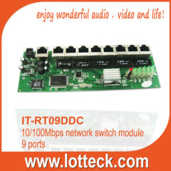 9-port 10/100mbps Network Router Module