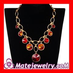 Goldplated Rhinestone Collar Bib Necklace