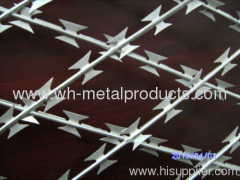 welded flat razor wire mesh fence