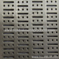 Perforated punching building pannel
