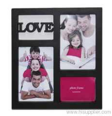 Plastic Injection Photo Frame, 4X6-2&9X6.5CM opening,meansures 26.5X24X2.5CM