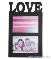 Plastic Injection Photo Frame, 6X4-2 opening,meansures 31X19.5X2.5CM