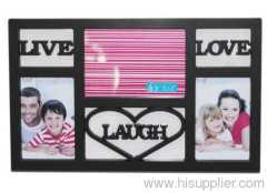 Plastic Injection Photo Frame, 7X5&4X6-2 opening,meansures 42.7X26.5X2.5CM