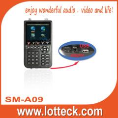 DVB-S and DVB-Tstartrack receiver satellite finder meter