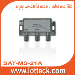 SAT-MS-21A LOTTECK metal 2 ×1 multiSwitch
