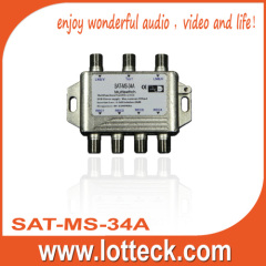 SAT-MS-34A 300mA 3×4 multiswitch