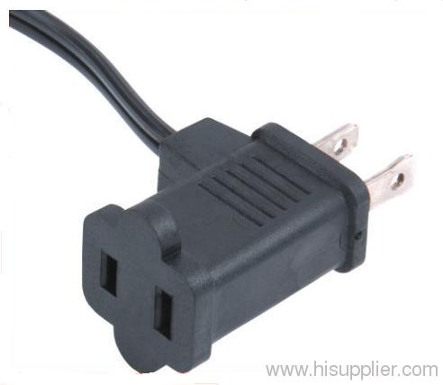 Piggyback plug with cords for America