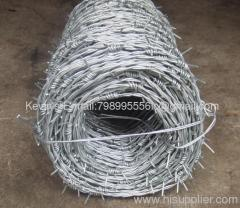 galvanized/PVC coated barbed wire