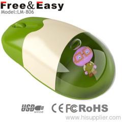 Can do customzed logo for the liquid mouse