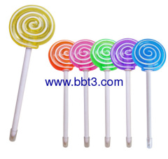Promotional lollipop shape ballpen with lighting