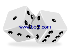 Promotional acrylic dices with logo printing
