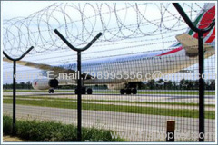 Galvanized+ powder coated Airport Perimeter Fence