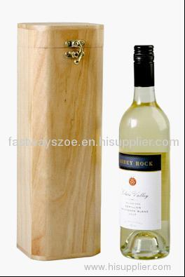 wooden wine box for one bottle