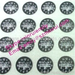 Eggshell Warranty Stickers with Dates