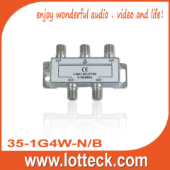 35-1G4W-N/B Satellite 4-Way Splitter