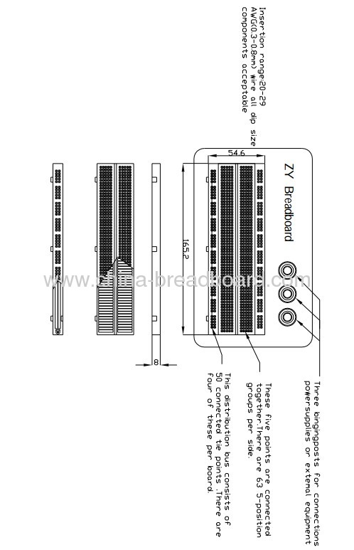 830 points breadboard with suitable wire kit from china manufacturer
