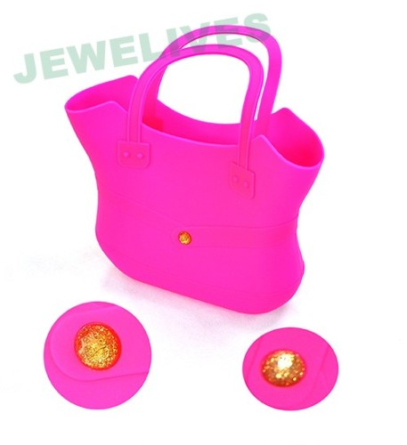 Colorful Silicone Ladies shopping bag & Hand bag in loving heart