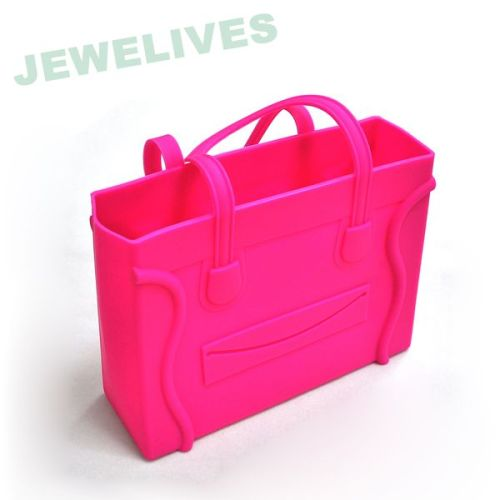 LFGB Silicone & Rubber Lady Hand Bag in Square