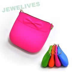 Colorful Ladies Silicone Chain Bag & fashion bags