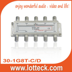 4.0-7.8dB Insertion Loss 30-1G8T-N/B 8-WAY SPLITTER