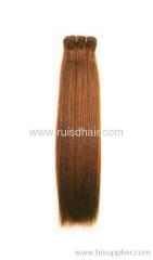 silky straight Brazilian machine made hair weft
