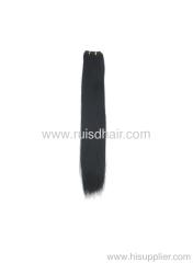 Light yaki Chinese virgin hair machine made hair weft
