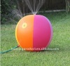 Inflatable sprinkler beach ball