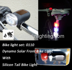 LED bicycle lighting set