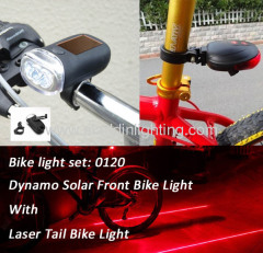 Laser bicycle light set LED bike light set