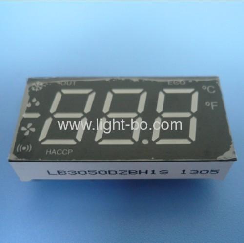Ultra-Weiß / Rot 0,50-Zoll-3 1/2 stellige LED-Sieben-Segment-Anzeigen Klimaanlage
