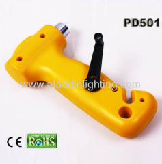 Car emergency hand cranking dynamo LED torch