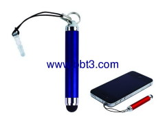 Promotional mini stylus pen with lanyard and plug