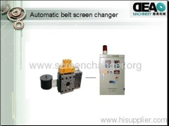 Automatic belt screen changer for extruder