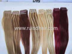 tape hair extension 100% human hair machine made good quali