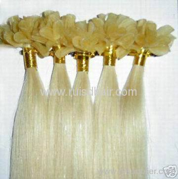 high quality Indian remy hair keratin hair extension