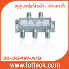 ONE/ALL PORT POWER PASS 4-WAY-SPLITTER