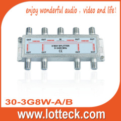 5-2400MHz 1IN 8 OUT SAT 8-WAY-SPLITTER
