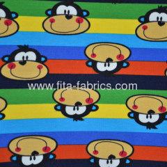 Polyester/Cotton spun Plush velour/printed knitting fabric